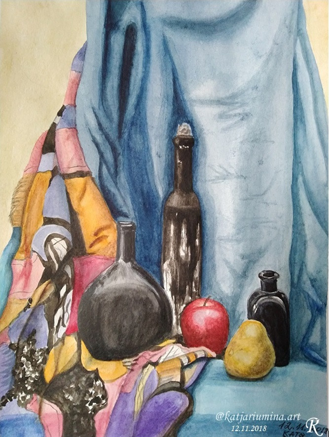 Bottles 2018 watercolor 21х30cm